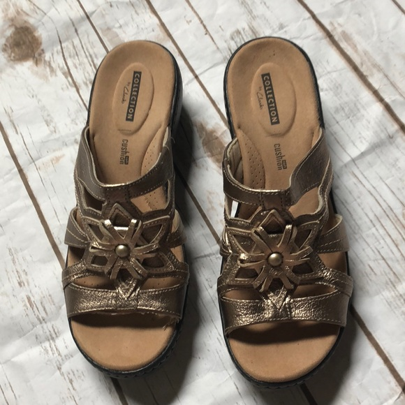 e03e83cd11bb Clark s Delana Venna Wedge Sandals